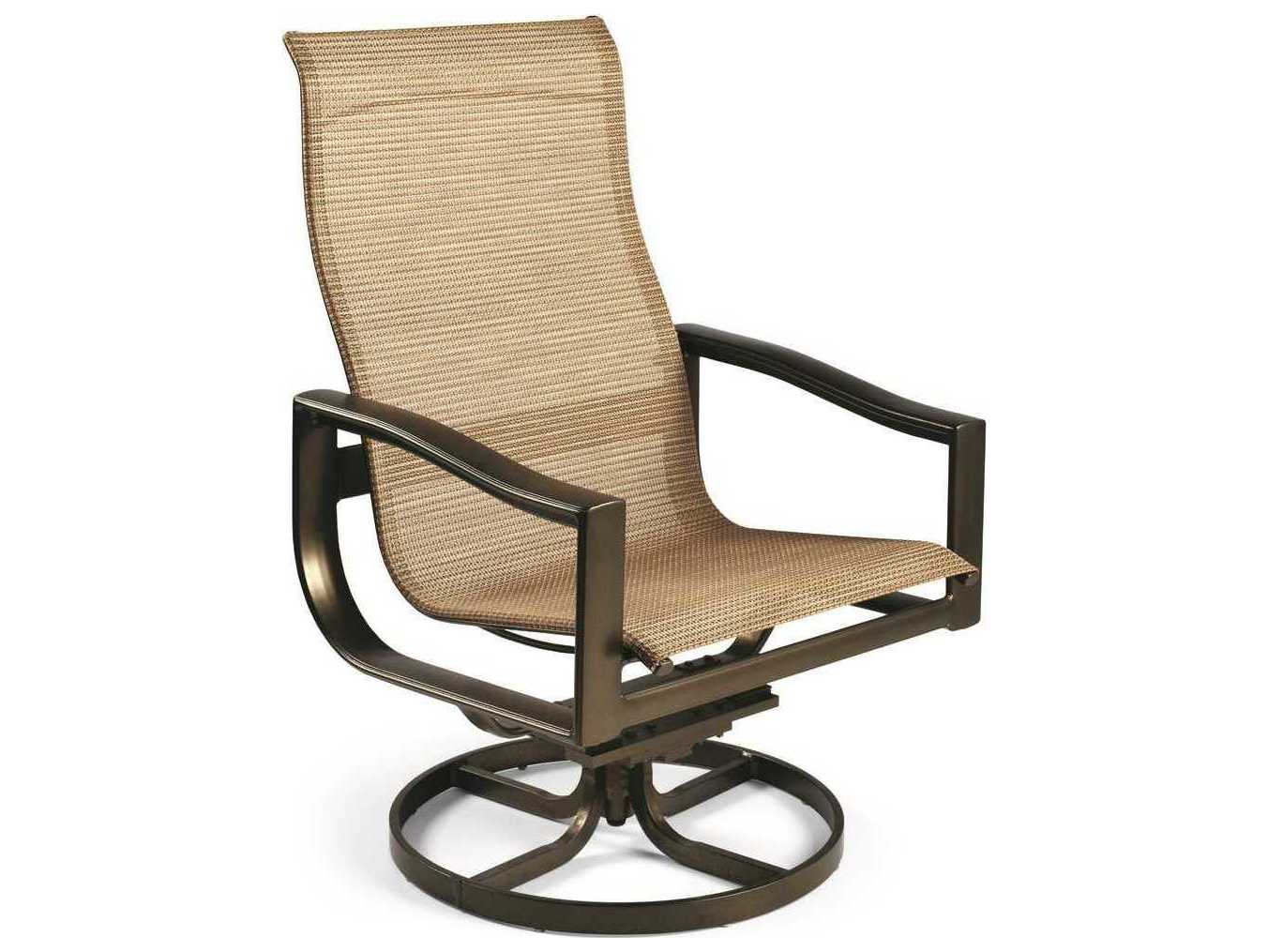 sling motion patio chairs metal dining chair winston belvedere aluminum high back swivel tilt