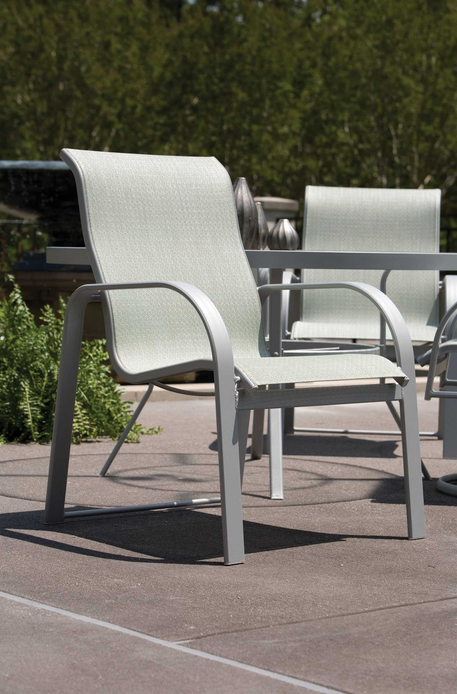Winston Seagrove II Sling Aluminum High Back Dining Chair