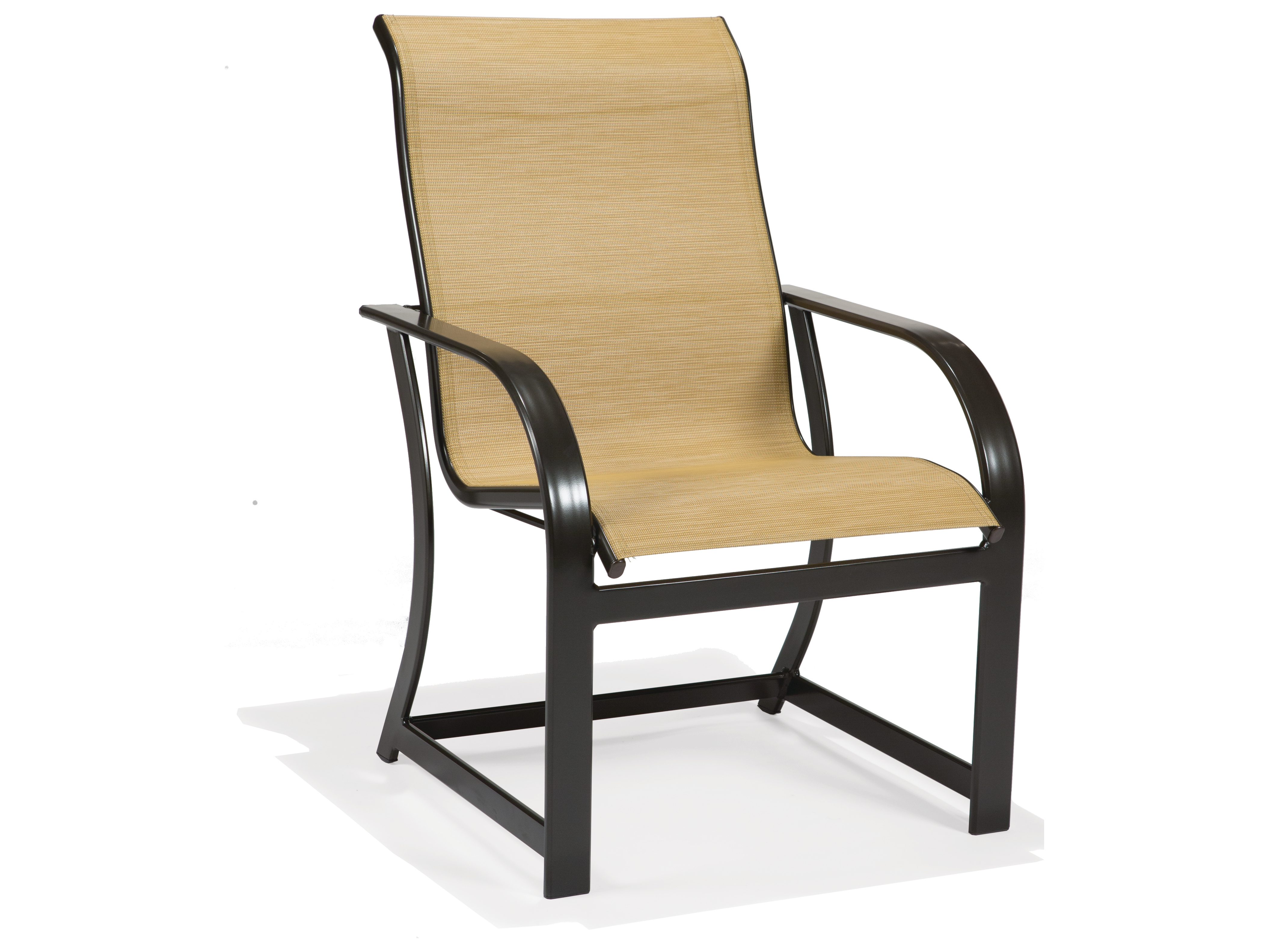 Sling Chairs Winston Key West Sling Aluminum High Back Arm Dining Chair