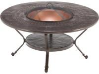 Winston Firepit Cast Aluminum 48'' Round Metal Fire Pit ...