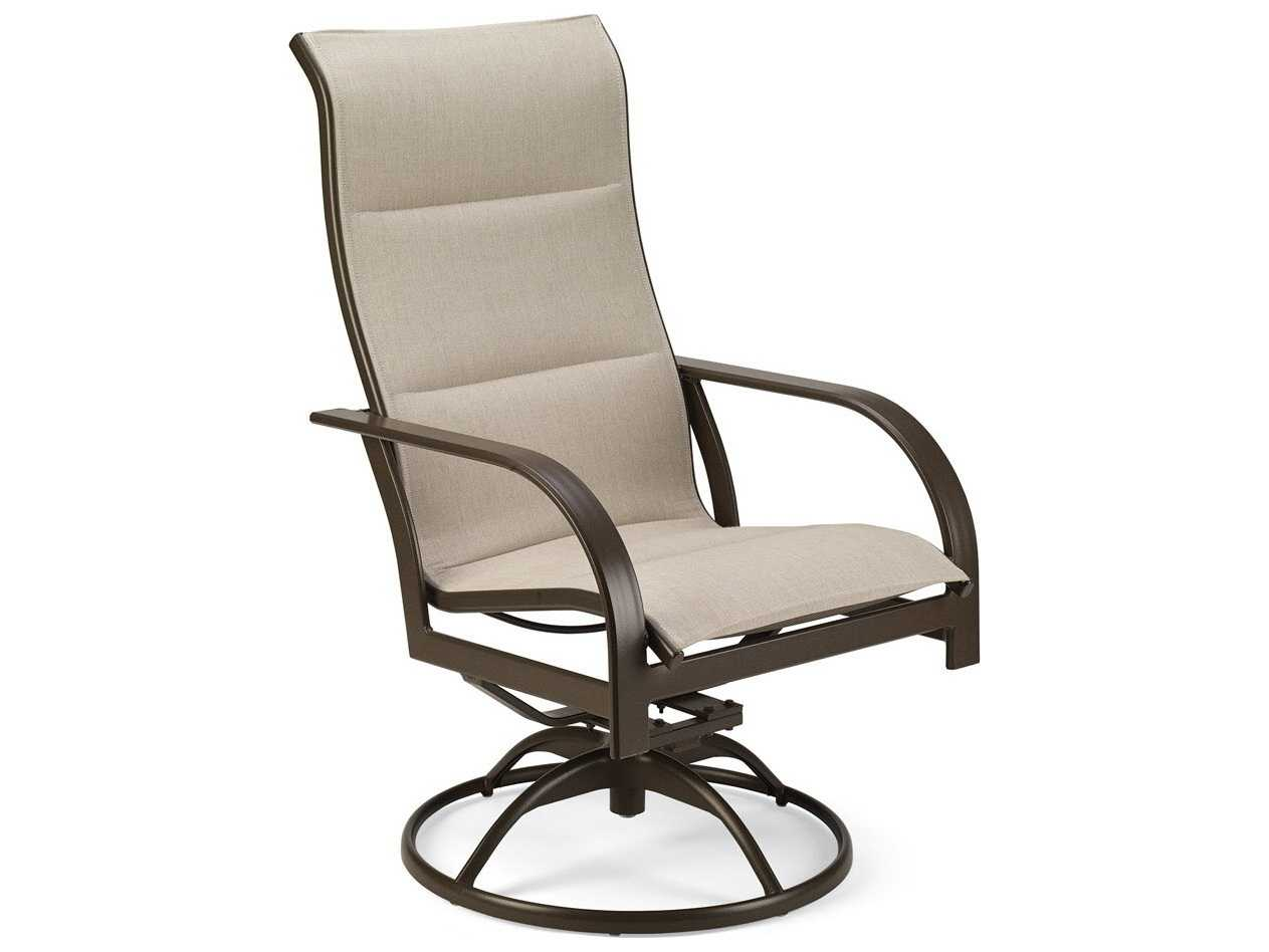 sling back chair plumbing pedicure chairs winston key west padded aluminum ultimate high