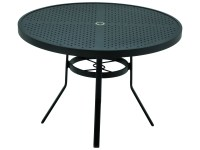 Winston Stamped Aluminum 42'' Round Dining Table with