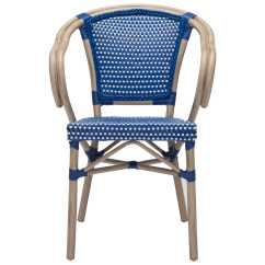Navy Blue Dining Chair Knoll Wassily Zuo Outdoor Paris Aluminum Wicker Arm In