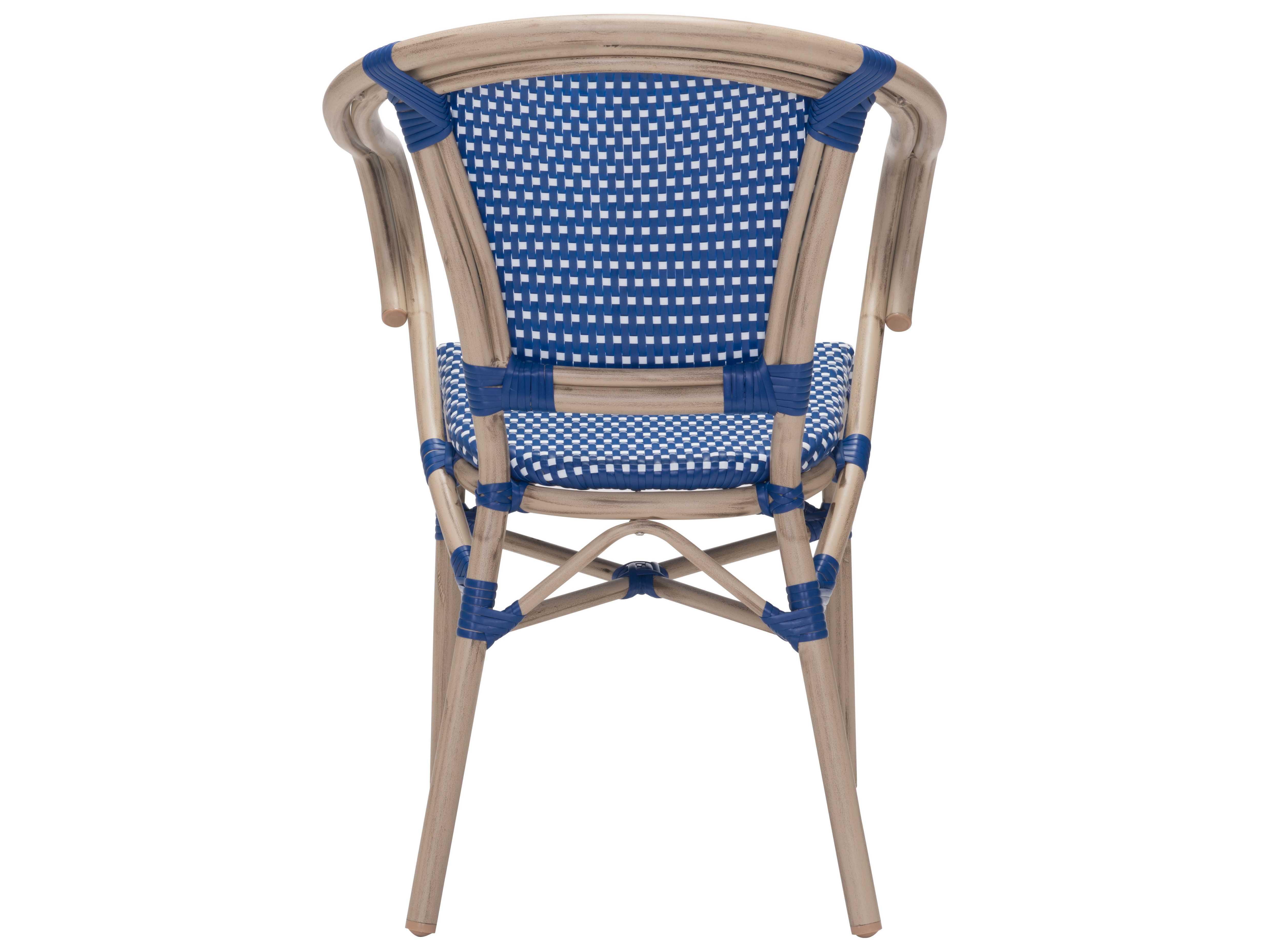 navy blue dining chair white wing zuo outdoor paris aluminum wicker arm in