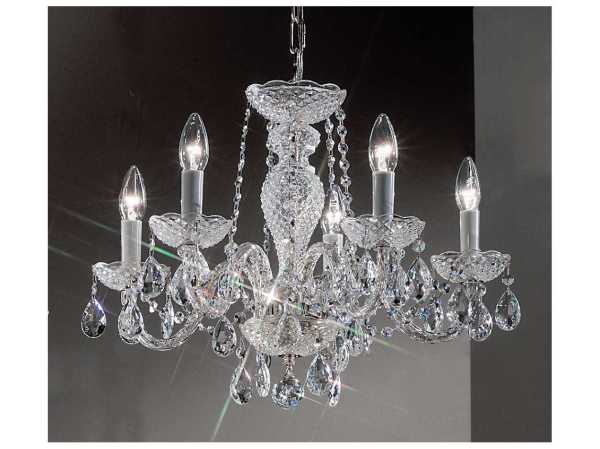 Classic Lighting Corporation Monticello Chrome Five-light 22'' Wide Mini Chandelier C88235chi
