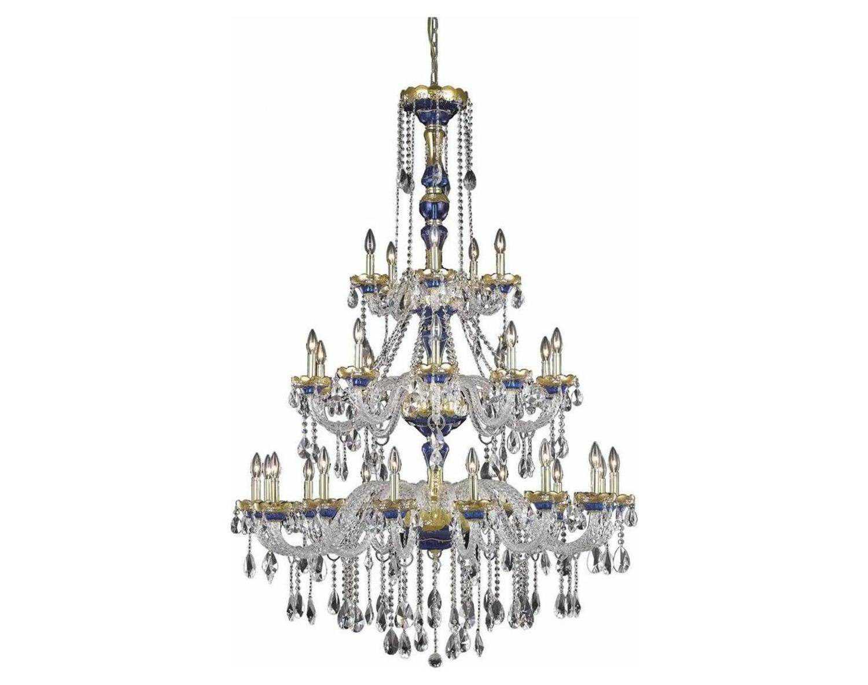 Elegant Lighting Alexandria Royal Cut Blue Amp Crystal 30