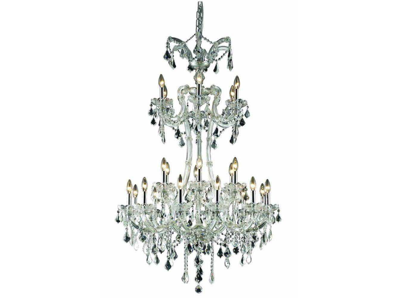 Elegant Lighting Maria Theresa Royal Cut Chrome Amp Crystal