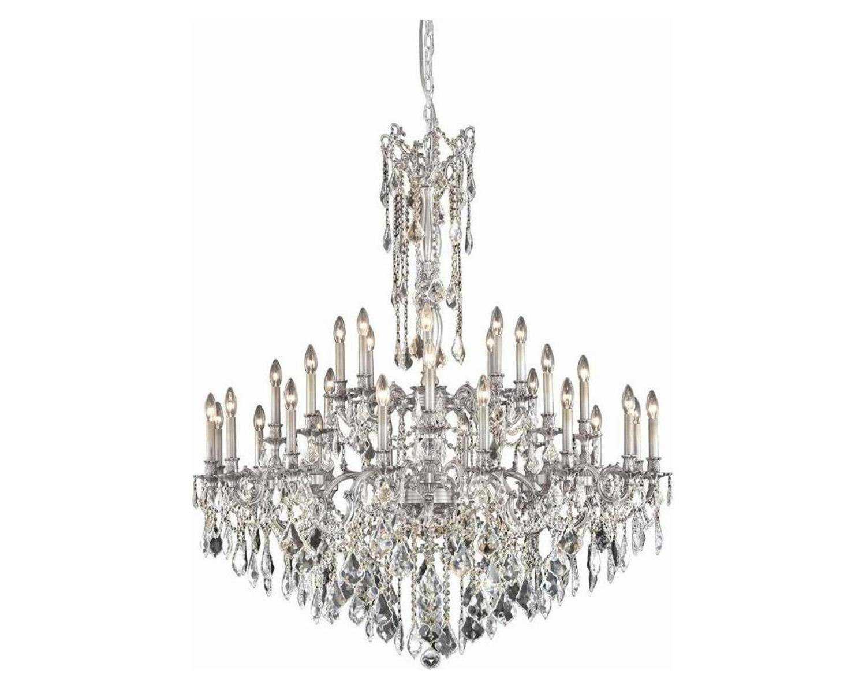 Elegant Lighting Rosalia Royal Cut Pewter Amp Crystal 32