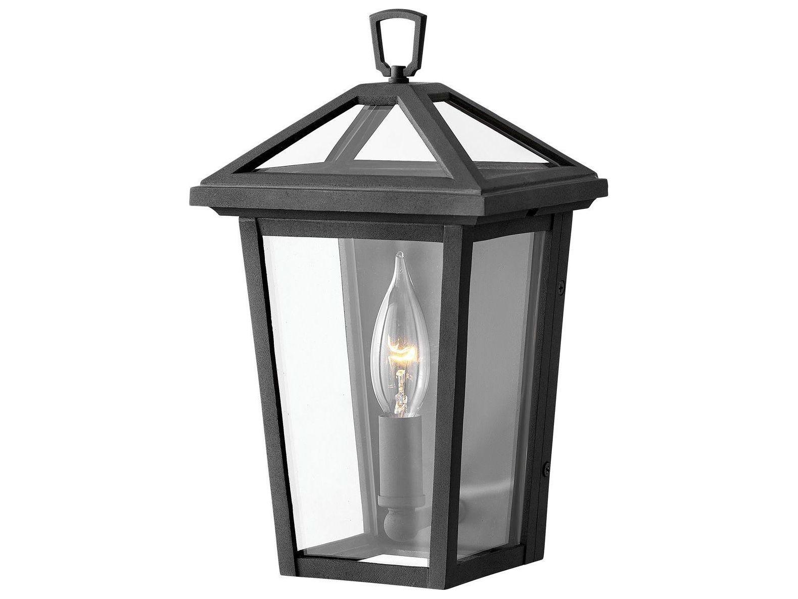 hinkley lighting museum black 1 light glass candelabra outdoor wall light