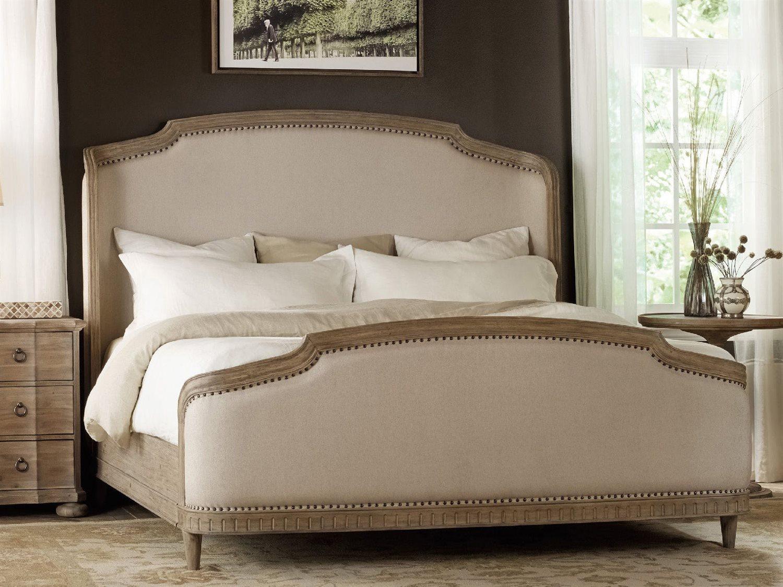 hooker furniture corsica light wood king size shelter panel bed