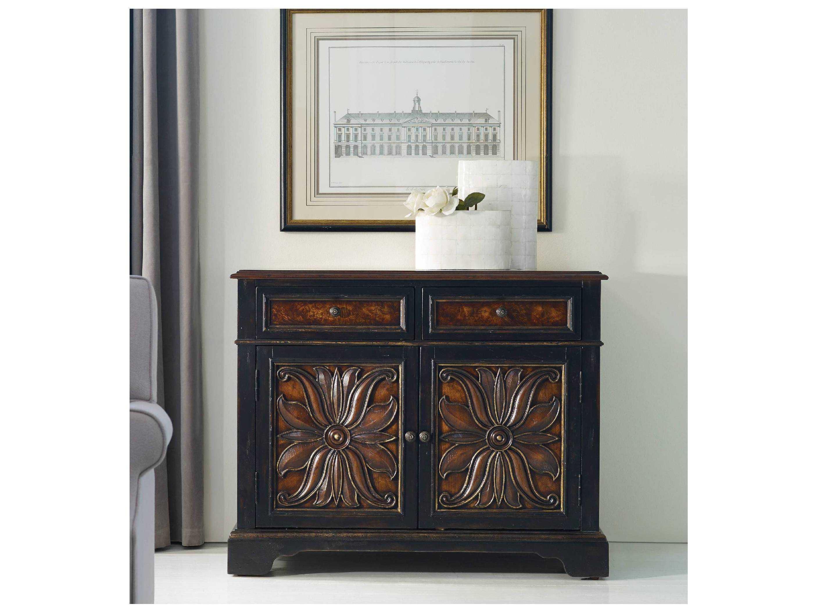 Hooker Furniture Grandover Black With Gold Accent 43 L X 21 W Rectangular Buffet Hoo502985002