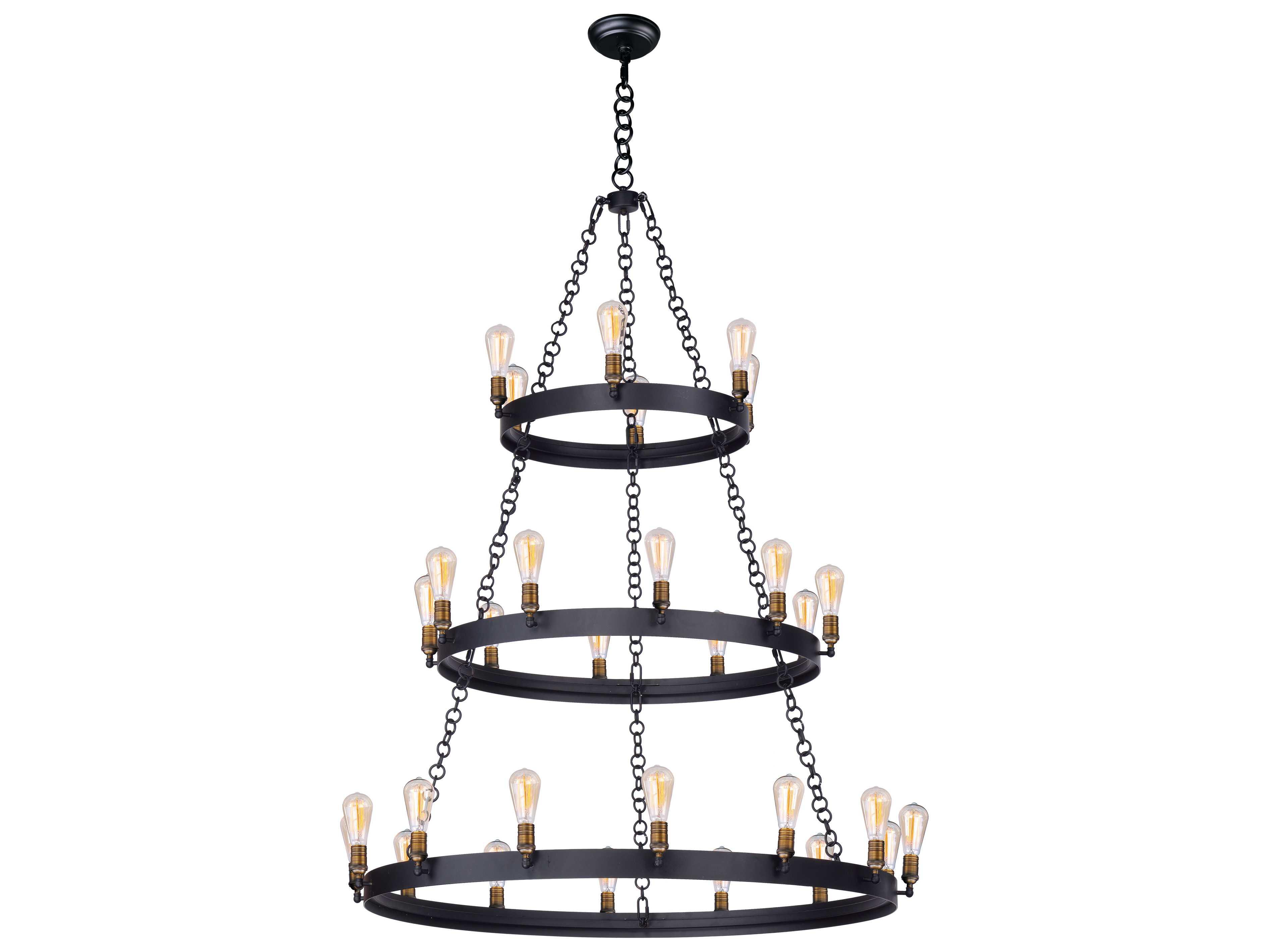 Maxim Lighting Noble Black Amp Natural Aged Brass 30 Light