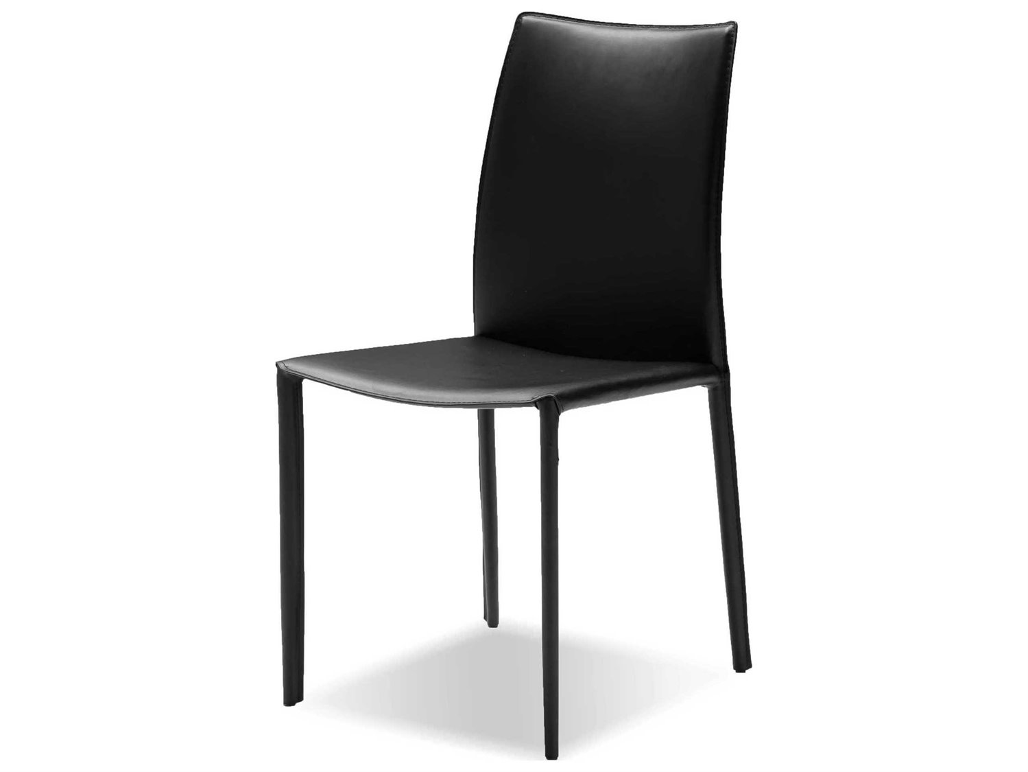 Black Leather Dining Chairs Mobital Zak Black Leather Dining Chair Sold In 2
