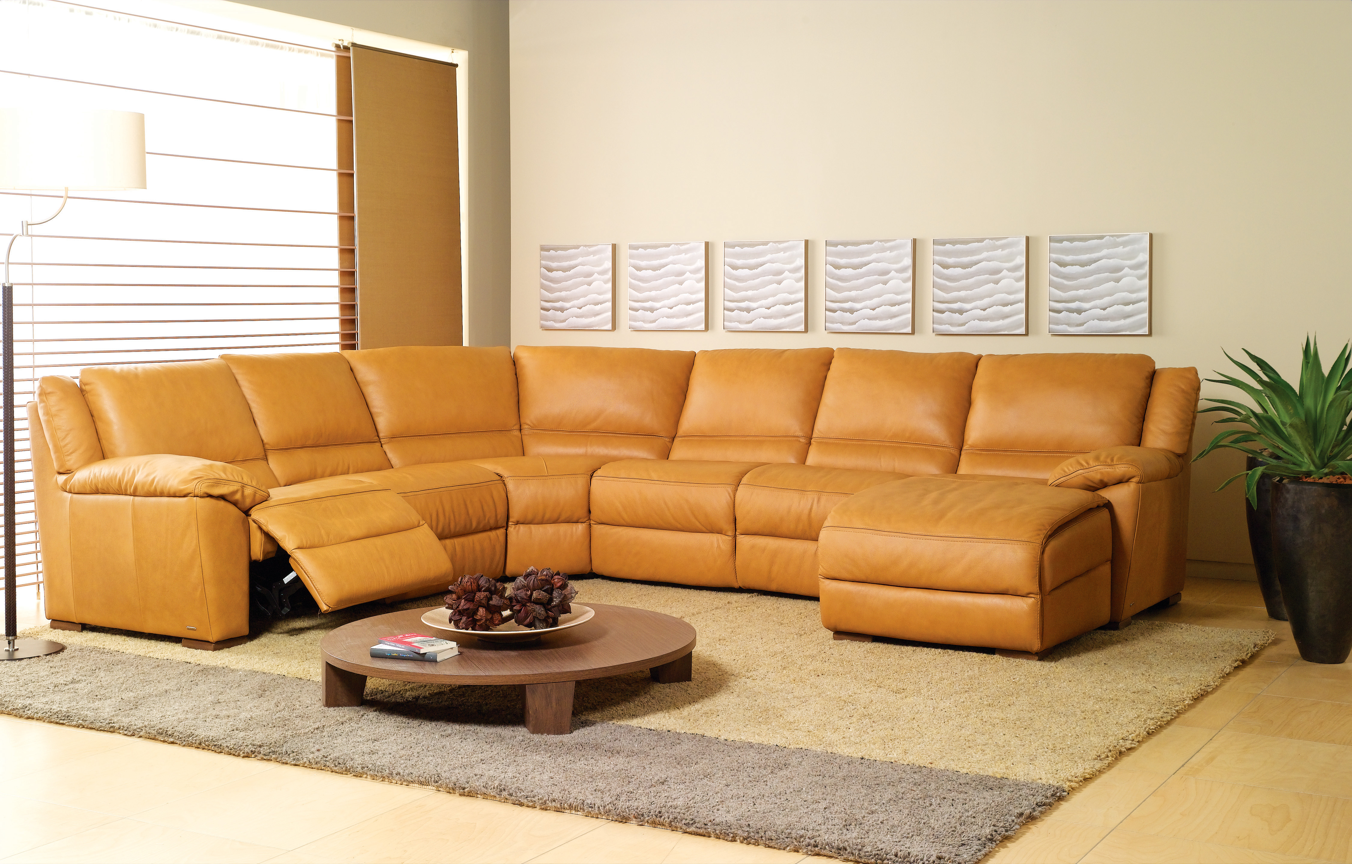 Natuzzi editions is the largest furniture house in italy with twelve manufacturing plants. Natuzzi Editions Giuseppe Sectional Sofa | NTZA319292076283049