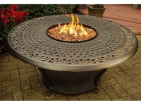 Oakland Living Aluminum Charleston 48 Round Gas Firepit ...