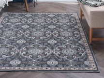 Tayse Rugs Hampton Izel Gray Rectangular Area Rug