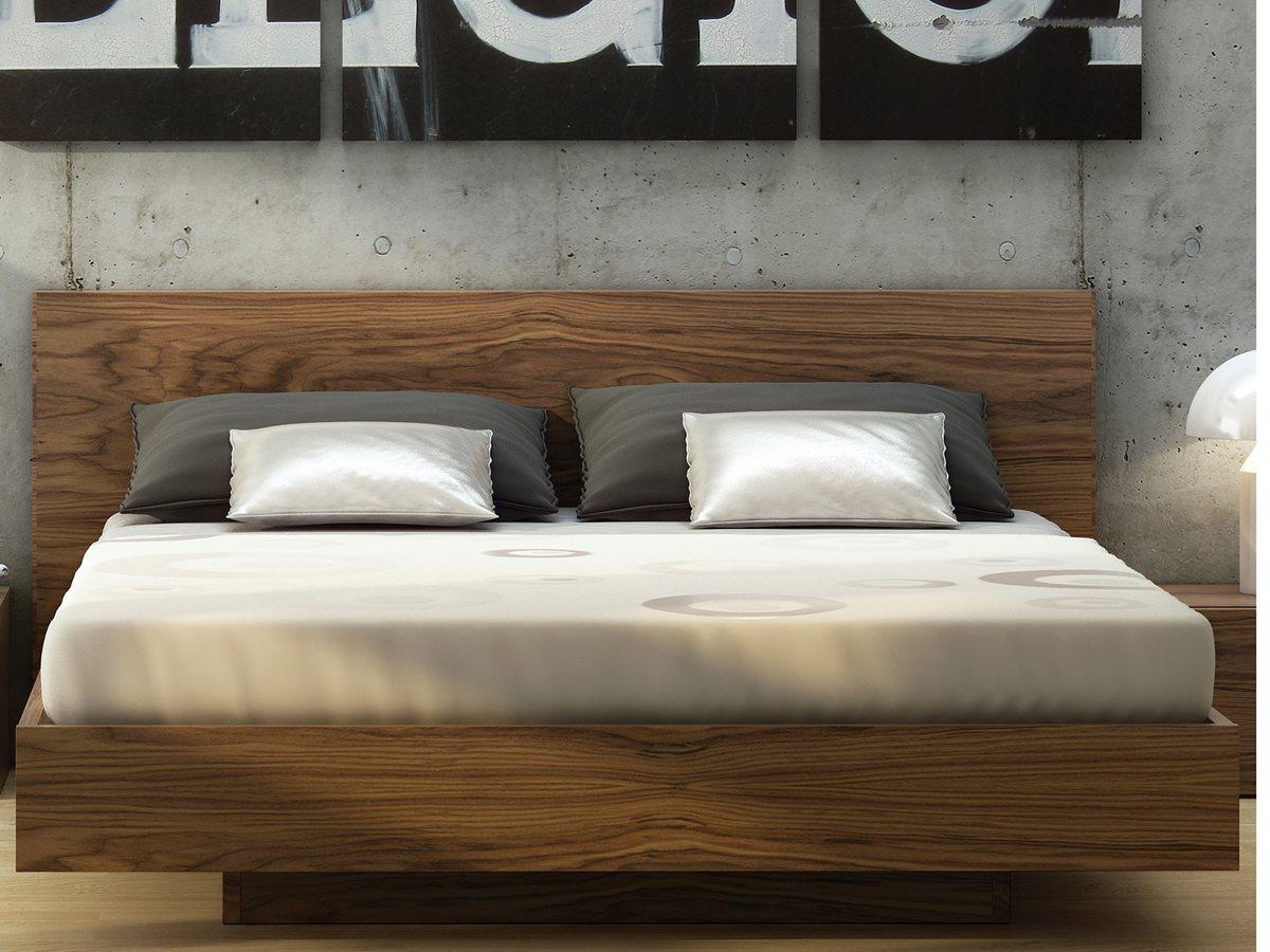 Temahome Float Walnut King Size Platform Bed Tem9500758614