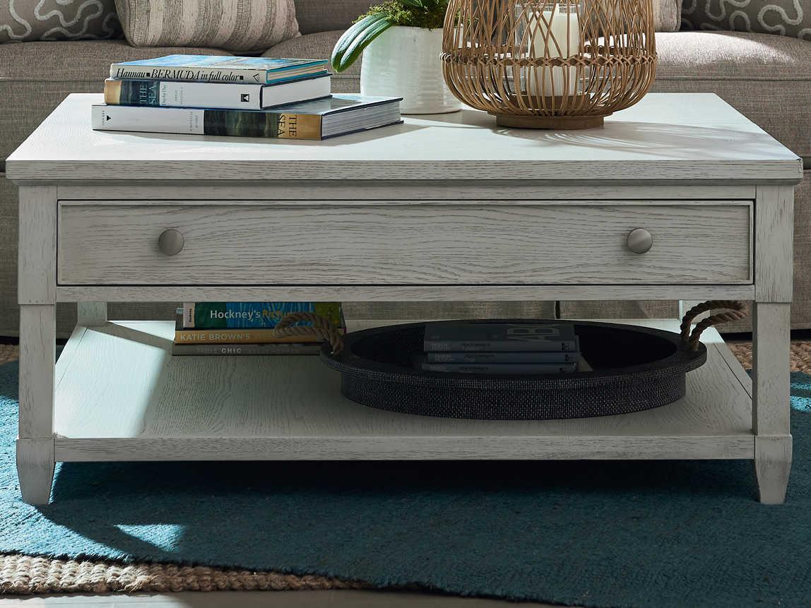 universal furniture coastal living sandbar 42 wide square coffee table