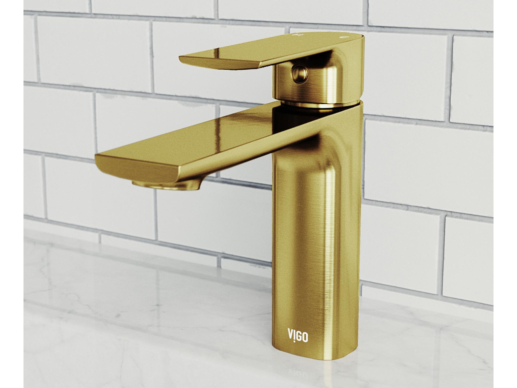vigo davidson matte brushed gold bathroom faucet