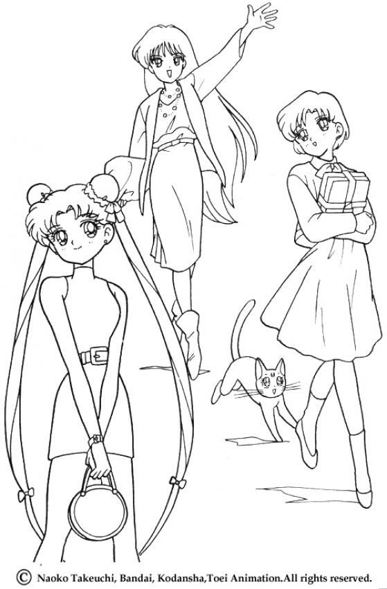 Sailor Moons Zwinkern Zum Ausmalen
