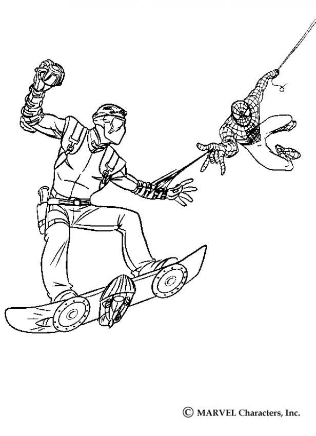Spiderman fängt harry osborn, den neuen goblin zum
