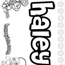 Hailey Name Coloring Pages Coloring Pages
