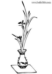 Blumenvase zum ausmalen zum ausmalen - de.hellokids.com