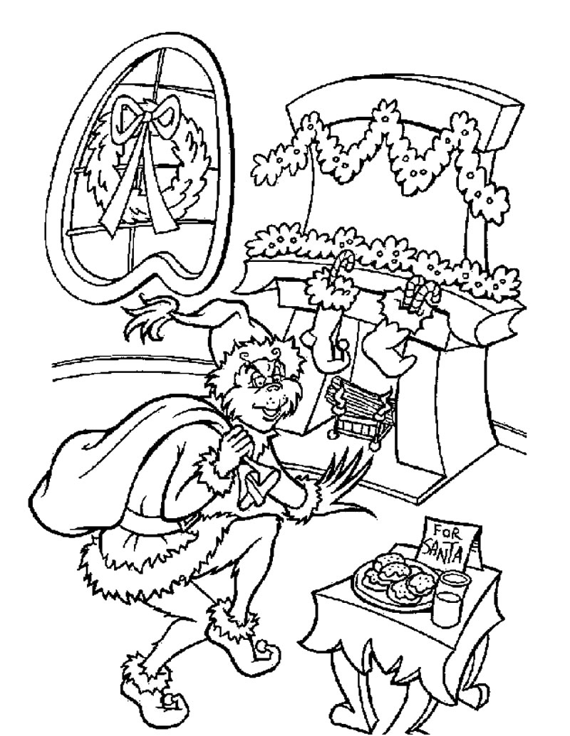Der grinch hat weihnachten gestohlen zum ausmalen zum