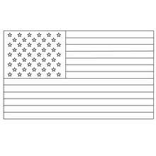Usa Flagge Ausmalen - Ausmalbilder