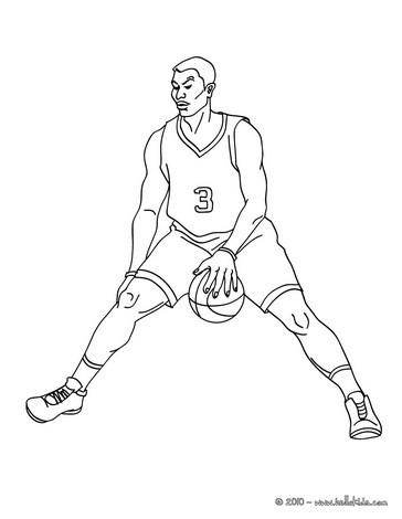 Basketball spieler dribbelt zum online ausmalen zum