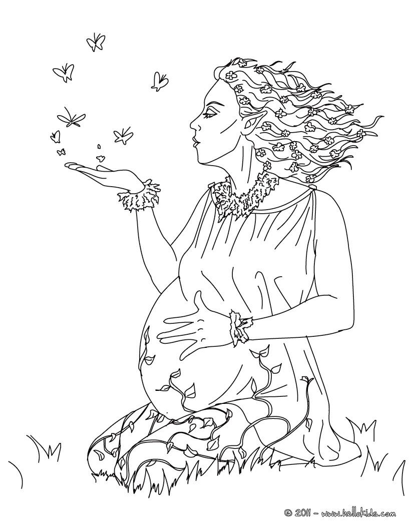 Gaia griechische göttin der erde zum ausmalen zum ausmalen