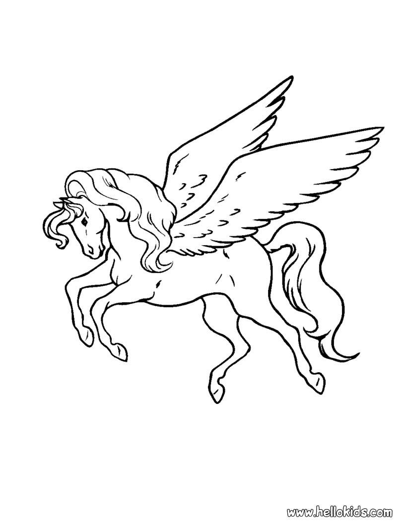 Pegasus zum ausmalen zum ausmalen - dehellokids