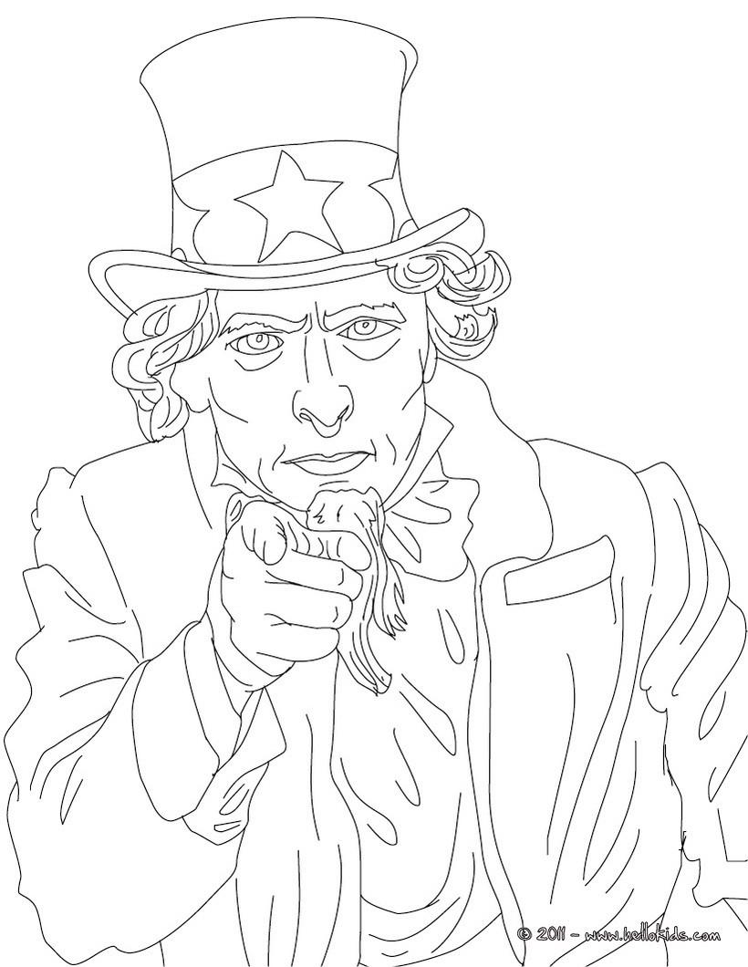 Uncle Sam Zum Ausmalen Zum Ausmalen Dehellokidscom