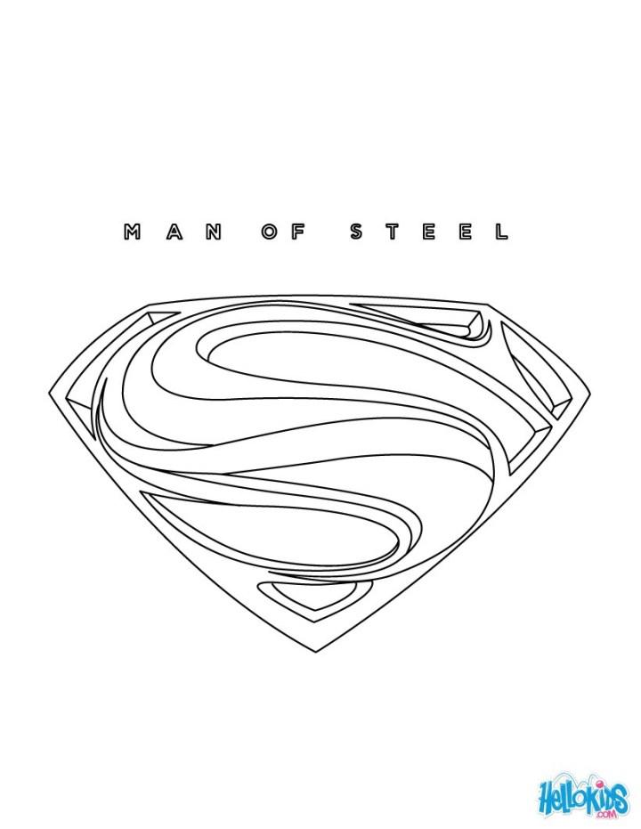 Ausmalbilder Batman Logo: Superman Logo Zum Ausmalen
