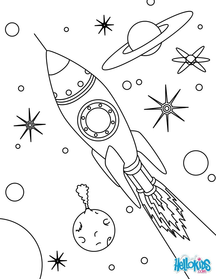 Malvorlage Rakete Kostenlos - Zeichnen und Färben
