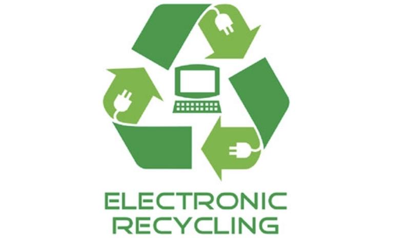 Recycle iPhones, iPads, and MacBooks symbol