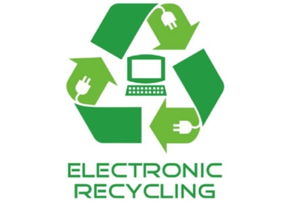 Recycle iPhones, iPads, and MacBooks symbol