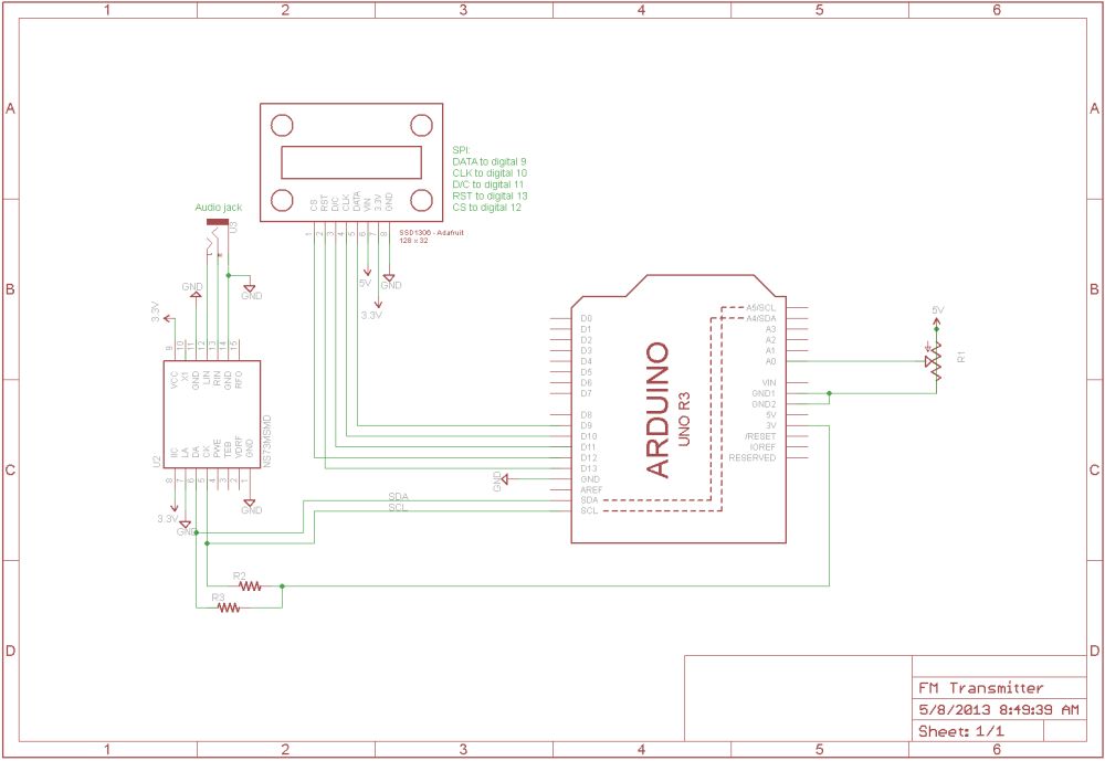 medium resolution of  fm frame1 fm transmitter with arduino i am gew ssd1306 bs2 at cita asia ssd1306 128x32 wiring diagram