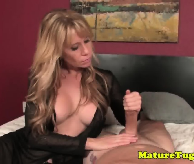Bigtitted Mature Tugging Cock Scene 4