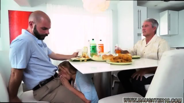 Fucking Companion S Daughter During Eventually She Was Jacking Him Off Under The Table Scene