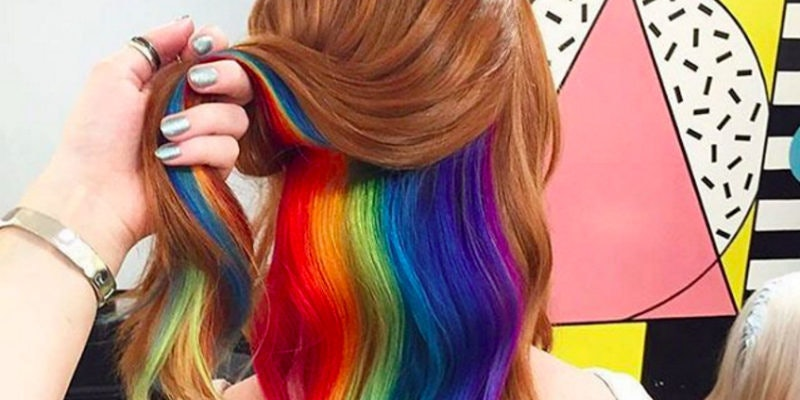 hidden rainbow hair