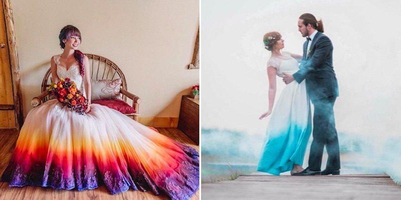 Women Love DipDye Wedding Dresses And You Can DIY