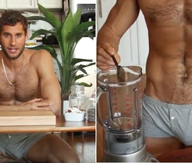 Naked Chef Makes Chia Pudding And Shows Bulge In Video