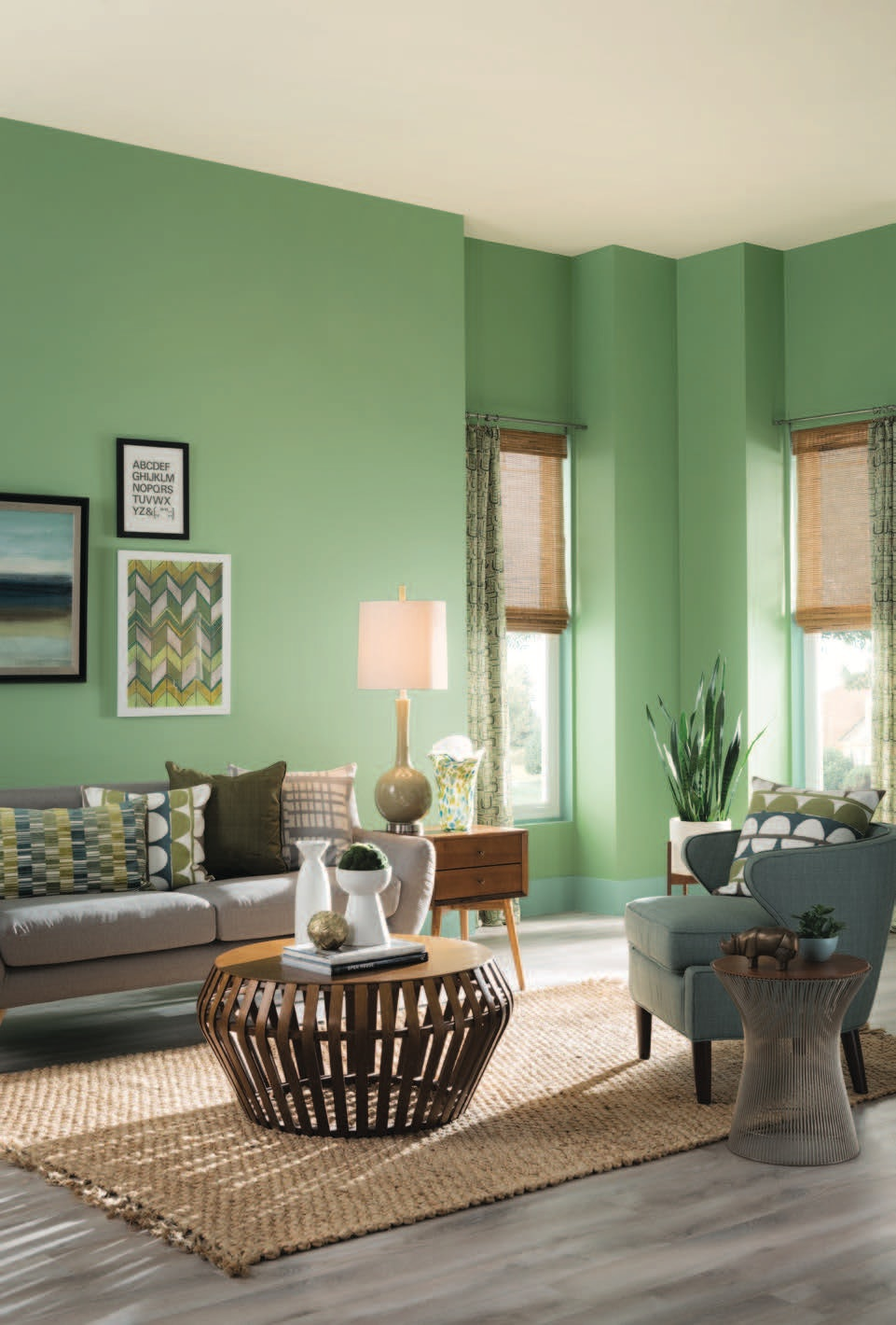 how to paint your living room with ottoman walls make any space look bigger ceiling a lighter color than the rest of and suddenly it will seem like you have extra high ceilings