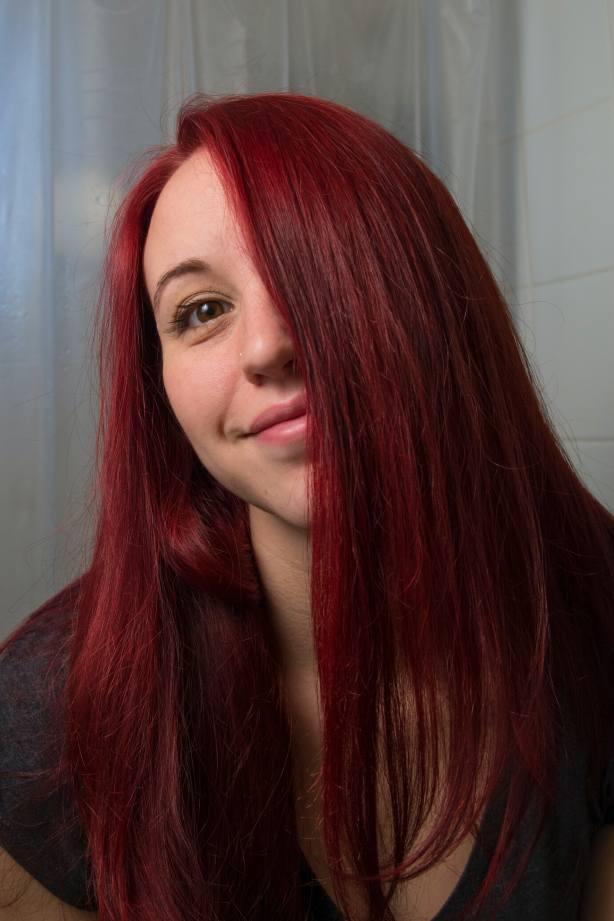 dye brown hair red