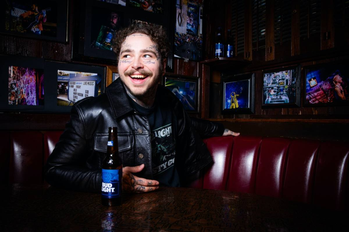post malone launched merch with bud light