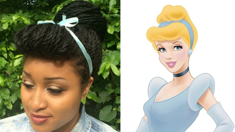recreated disney princess hairstyles