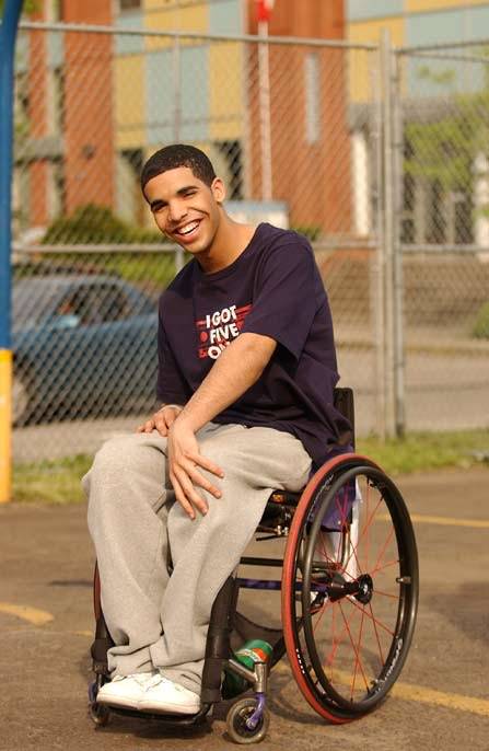 wheelchair drake sleeping in office chair from degrassi 2888 loadtve