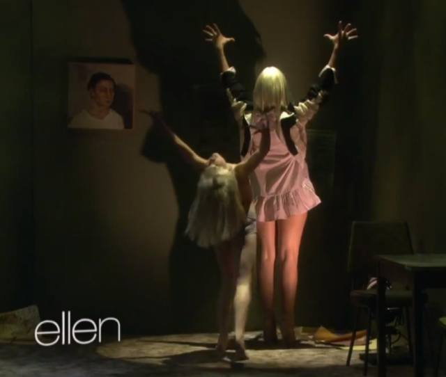Moments In Sia Maddie Zieglers Chandelier Performance On Ellen That Will Give You Chills Video
