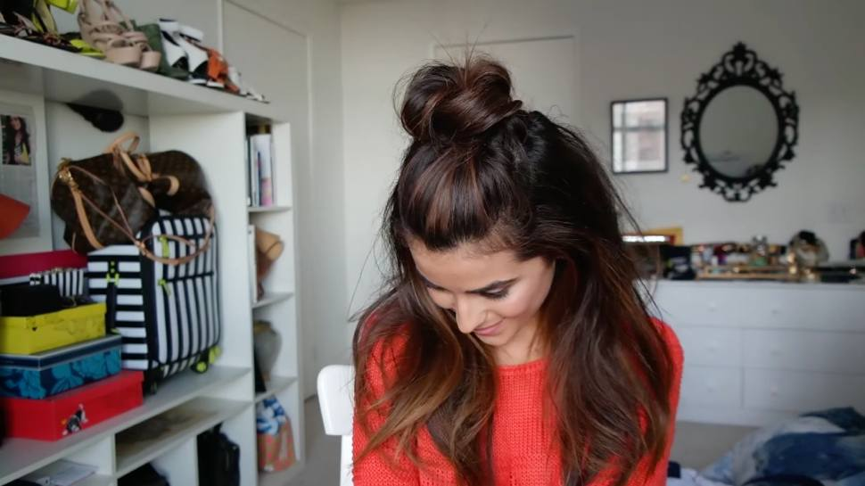 quick & easy greasy hairstyles